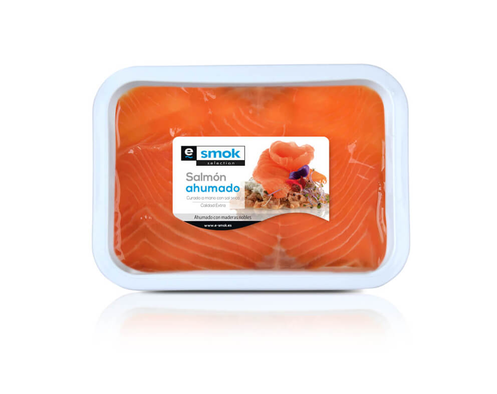 Salmón ahumado en aceite - tarrina 400 g