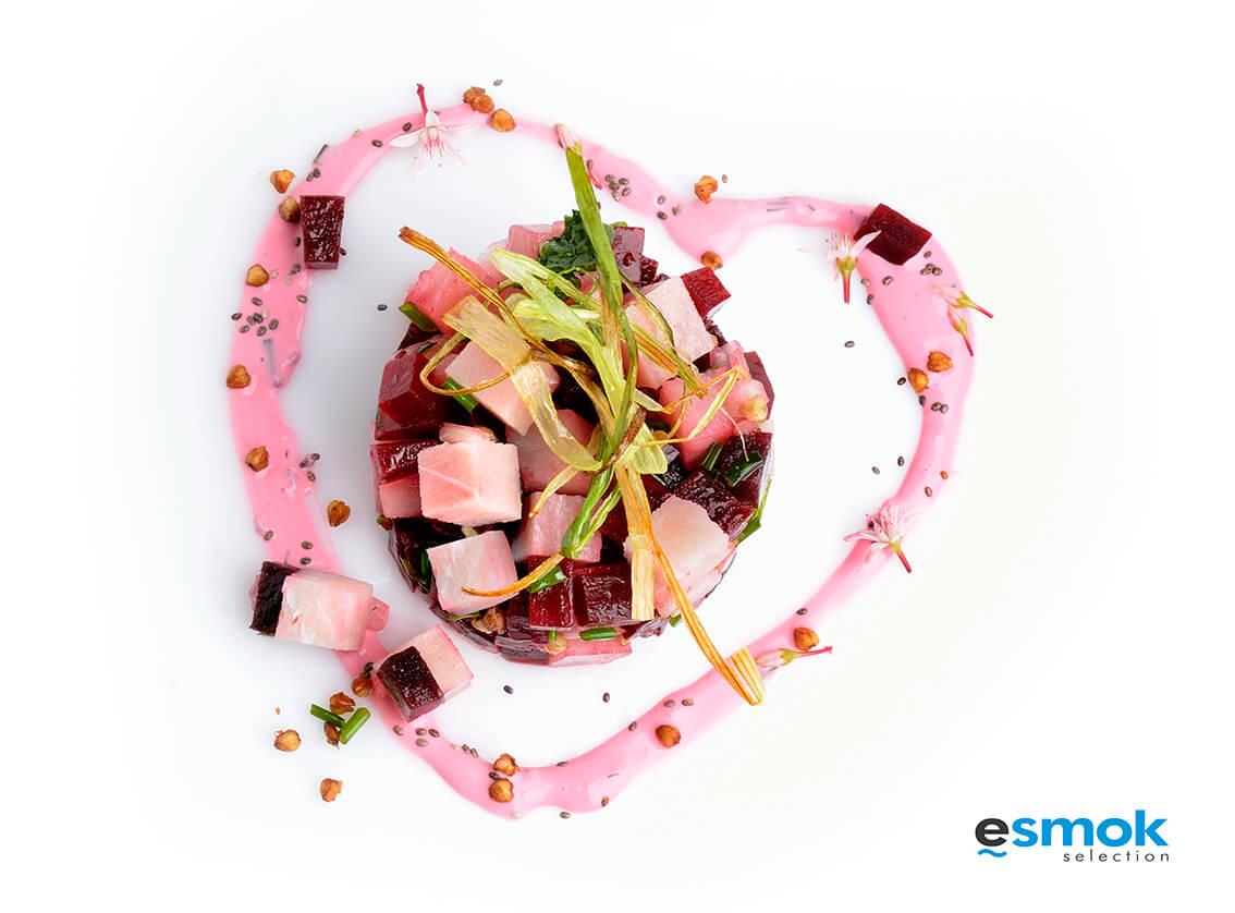 Tartar de pez espada para San Valentín