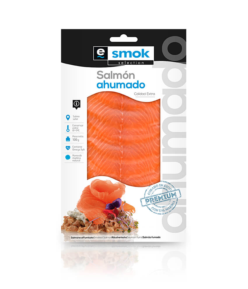 Smoked salmon - vacuum bag 100 g