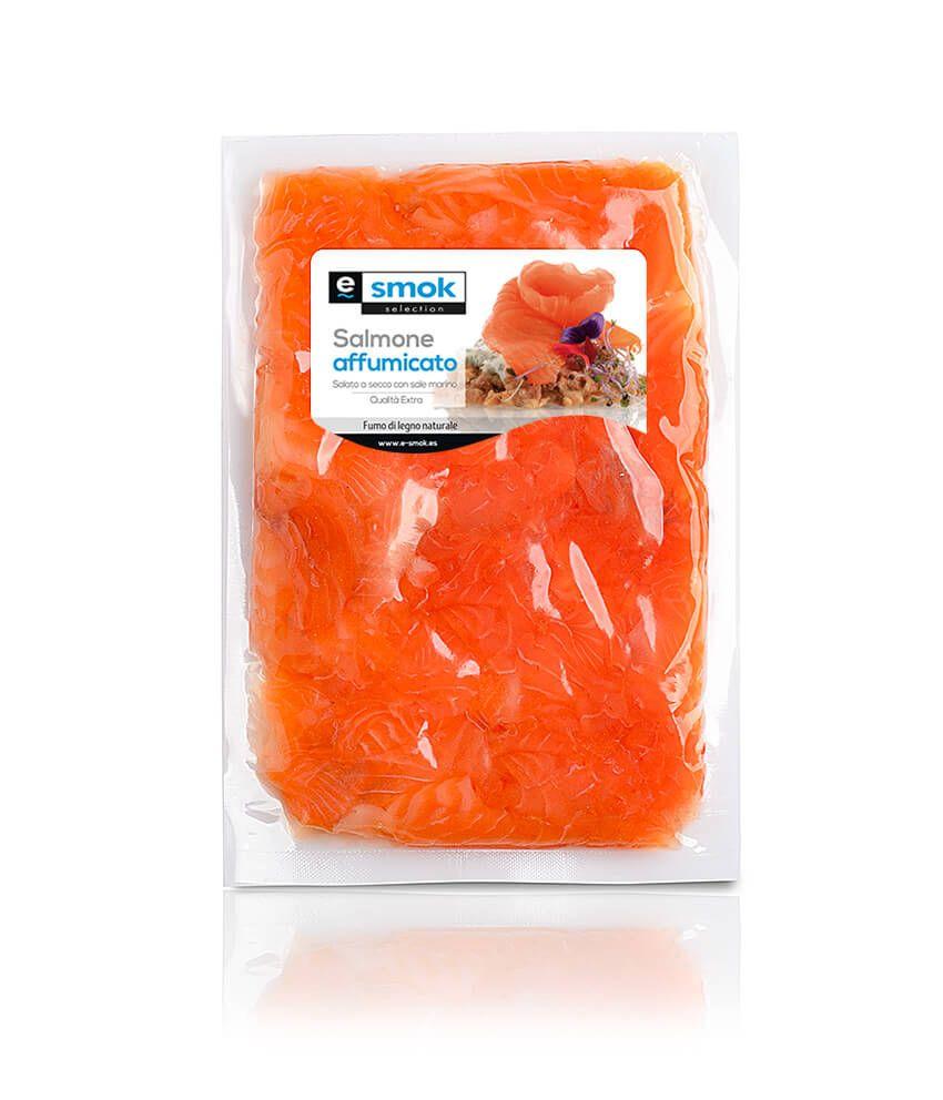 Retagli di salmone affumicato